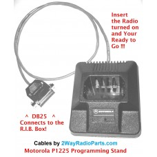 1225s - Radio to R.I.B. Programming Cable Stand for P1225