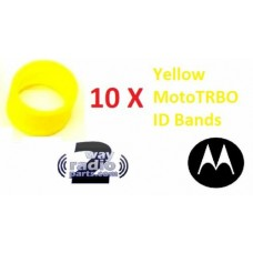 32012144002 - Motorola Antenna ID Bands 10/Pack - YELLOW