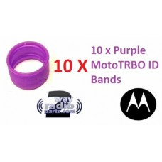 32012144005 - Motorola Antenna ID Bands 10/Pack - PURPLE